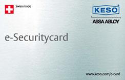 KESO e-Securitycard bestellen